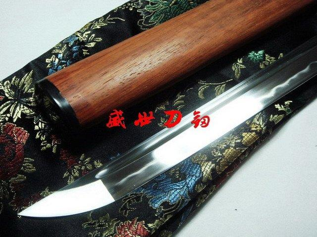 Battle Ready Japanese Katana Ox Tsuba Clay Tempered Sanmai Blade Sharpen Work Blade