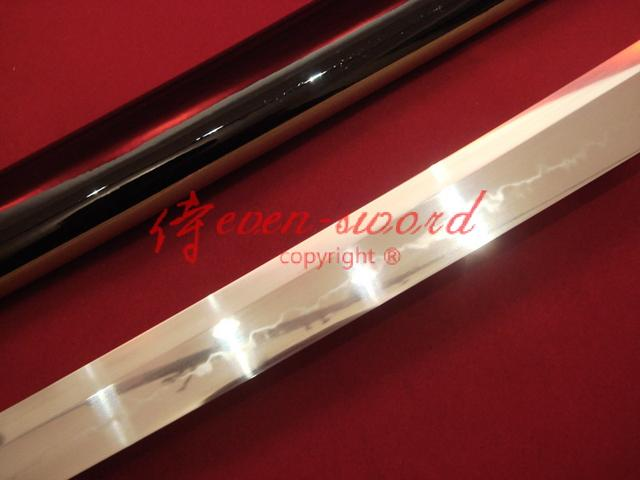 Top High Quality Clay Tempered Japanese Samurai Katana Wave Fittings Choji Hamon Full Tang Blade Sword