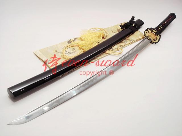 Handmade Japanese 1060 Carbon Steel Blade Katana Dragon Tsuba Full Tang Sword