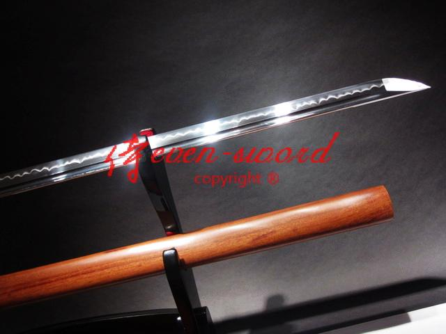Clay Tempered T-10 Steel Blade Shirasaya Ninja Sword Sharpened Rose Wooden Saya