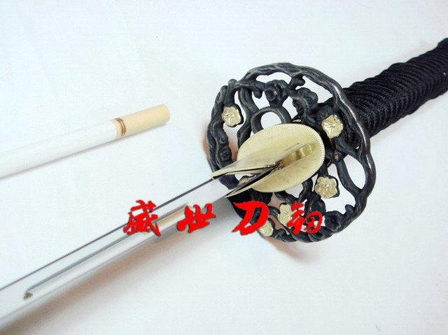 Hnadmade Japanese Wakizashi Katana Sword Sharpened Blade Folower Tsuba
