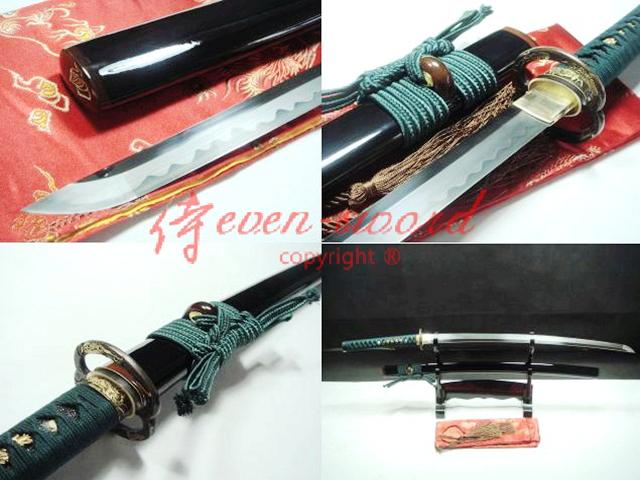 Battle Ready Clay Tempered 1095 Steel Blade Japanese Katana Sword Musashi Tsuba