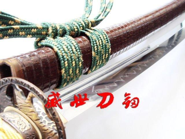 Hand Forged Japanese Tiger Samurai Katana Golden Tsuka Sharpened Blade