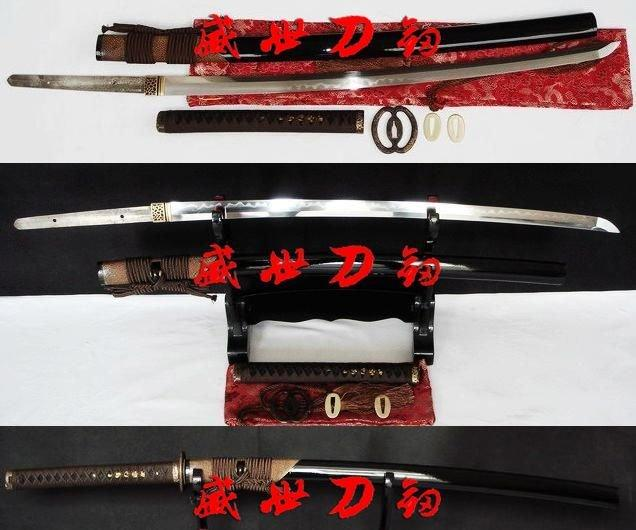 Clay Tempered Sanmai Blade Japanese Katana Sword Musashi Dragon Tsuba