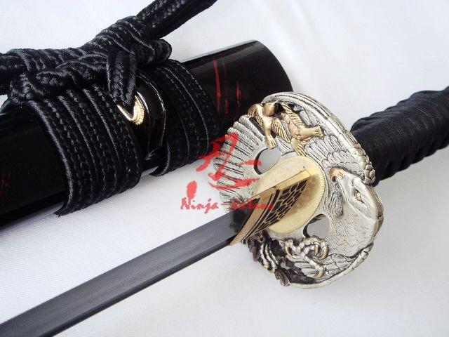 Clay Tempered Jp Ninja Sword Silver Eagle Tsuba Sharp