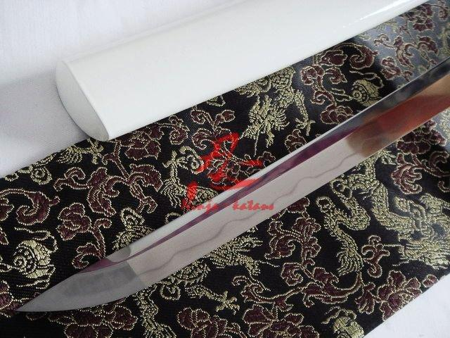 Battle Ready Clay Tempered Jp Wakizashi Katana Silver Wave