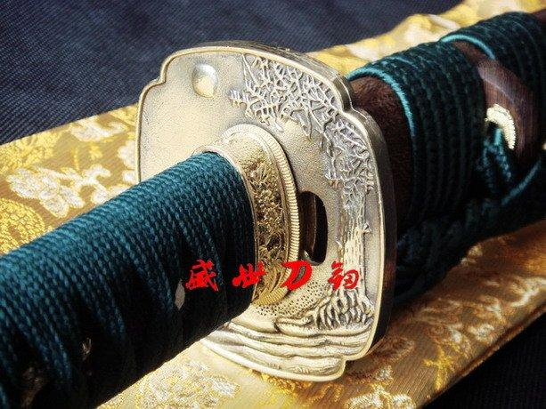Clay Tempered T-10 Blade Japanese Wakizashi Katana Brass Tsuba Fittings