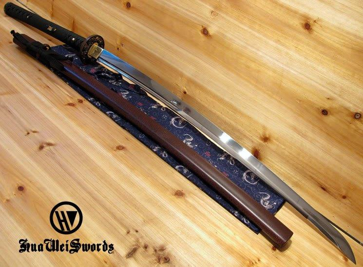 9260 Handmade Japanese Sword With Unokubi Zukuri Wave Fitting