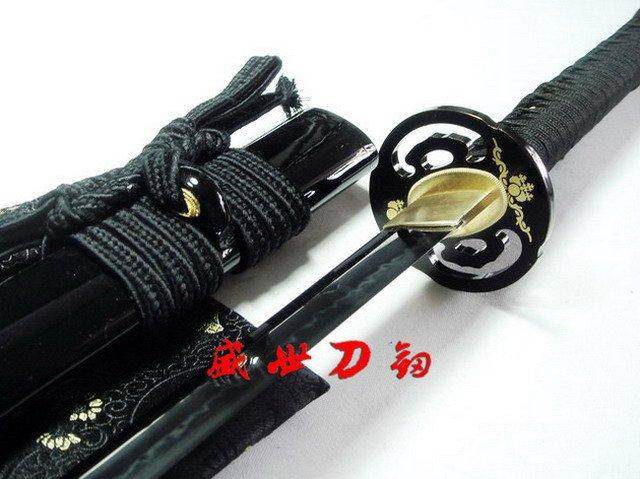 Battle Ready Japanese Samurai Katana Sakura Tsuba Claytempered Choji Hamon Blade