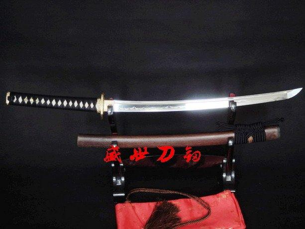 Clay Tempered T-10 Blade Japanese Wakizashi Katana Crane Tsuba Fittings