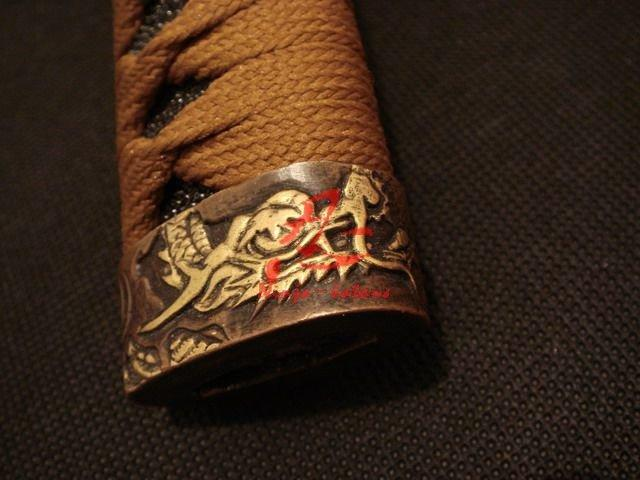 Battle Ready Clay Tempered Sanmai Blade Japanese Dragon Katana Hualee Wood Sheath