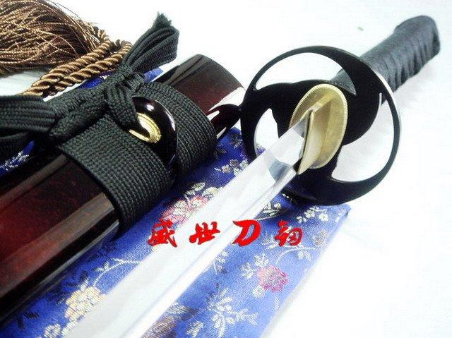 Battle Ready Japanese Samurai Katana Iron Cyclone Tsuba Sharpened Blade