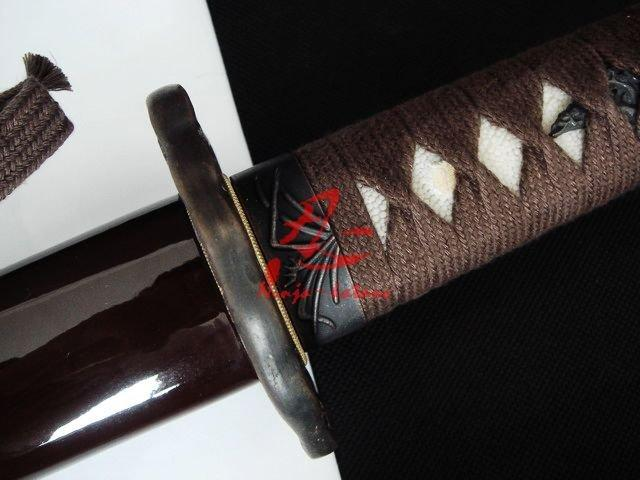 Handmade Coffee Japanese Katana Pine Tree Tsuba Sharpened