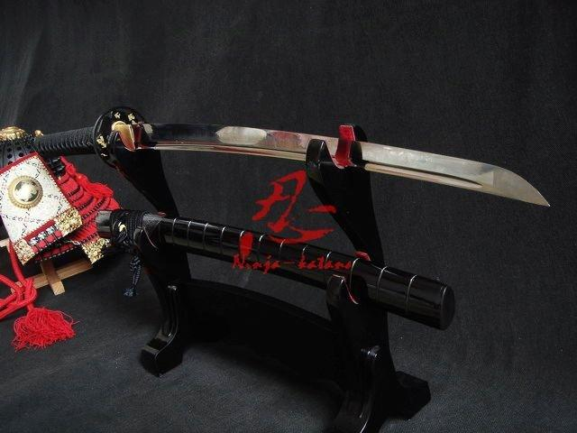 Clay Tempered Wakizashi Katana Battle Ready Blade Can Cut Bamboos Ray Skin Saya